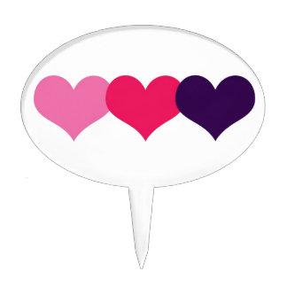 Corazón de la tarjeta del día de San Valentín Decoraciones De Tartas