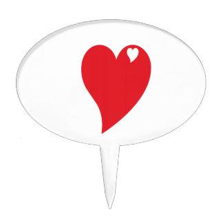 Corazón de la tarjeta del día de San Valentín Figura Para Tarta