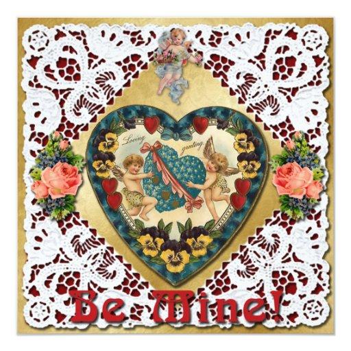 """Corazón de la tarjeta del día de San Valentín con Invitación 5.25"""" X 5.25"""""""