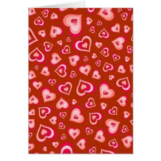 Corazón de la tarjeta del día de San Valentín de l