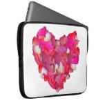 Corazón de la tarjeta del día de San Valentín de r Fundas Portátiles