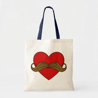 Corazón de la tarjeta del día de San Valentín del  Bolsa Tela Barata