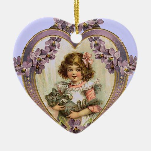 Corazón de la tarjeta del día de San Valentín del Adorno De Cerámica En Forma De Corazón