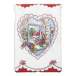 Corazón de la tarjeta del día de San Valentín del  iPad Mini Funda