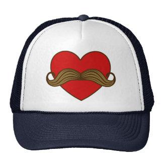 Corazón de la tarjeta del día de San Valentín del  Gorras