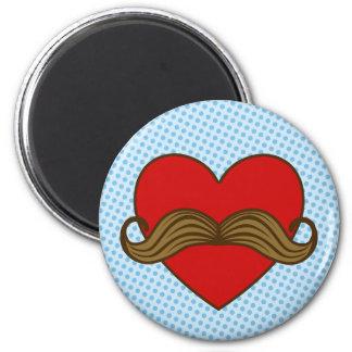 Corazón de la tarjeta del día de San Valentín del Imanes