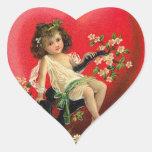 Corazón de la tarjeta del día de San Valentín del  Pegatinas De Corazon Personalizadas
