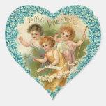 Corazón de la tarjeta del día de San Valentín del Calcomanías Corazones Personalizadas