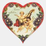 Corazón de la tarjeta del día de San Valentín del Calcomania De Corazon Personalizadas