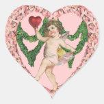 Corazón de la tarjeta del día de San Valentín del Calcomania Corazon Personalizadas