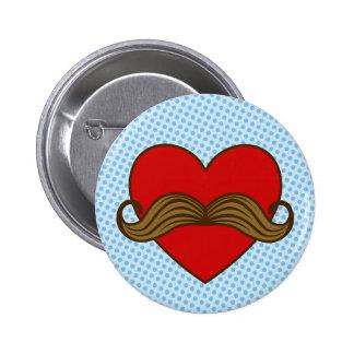 Corazón de la tarjeta del día de San Valentín del  Pin Redondo 5 Cm