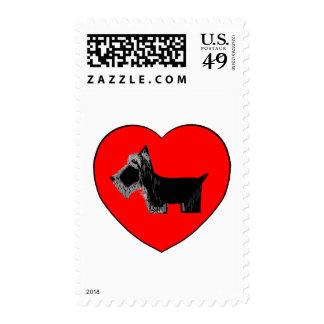 Corazón de la tarjeta del día de San Valentín del Sello