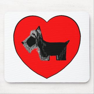 Corazón de la tarjeta del día de San Valentín del  Alfombrilla De Ratones