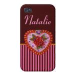 Corazón de la tarjeta del día de San Valentín iPhone 4/4S Carcasa