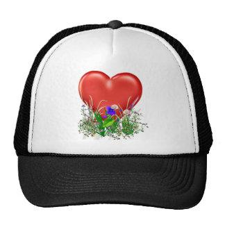 Corazón de la tarjeta del día de San Valentín Gorras De Camionero