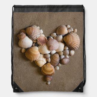 Corazón de la tarjeta del día de San Valentín hech Mochila