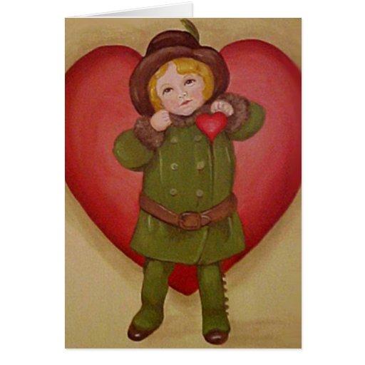 Corazón de la tarjeta del día de San Valentín para