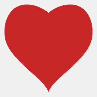 Corazón de la tarjeta del día de San Valentín Pegatina En Forma De Corazón