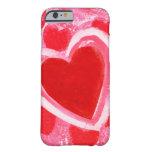 Corazón de la tarjeta del día de San Valentín por Funda De iPhone 6 Barely There