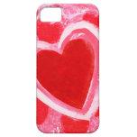 Corazón de la tarjeta del día de San Valentín por iPhone 5 Fundas