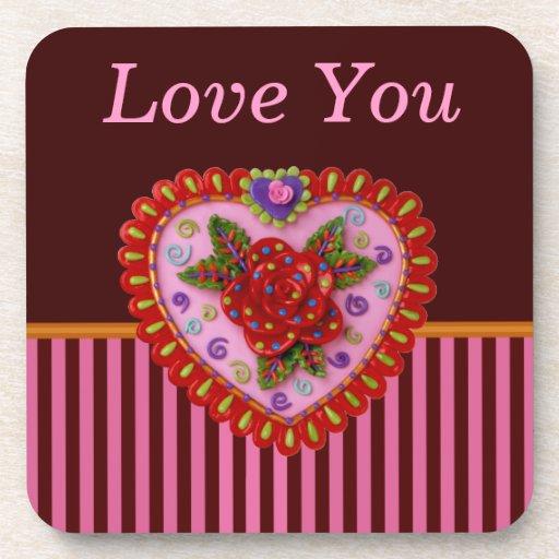 Corazón de la tarjeta del día de San Valentín Posavaso