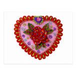 Corazón de la tarjeta del día de San Valentín Tarjeta Postal