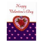 Corazón de la tarjeta del día de San Valentín Postales