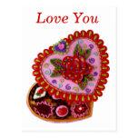 Corazón de la tarjeta del día de San Valentín Tarjetas Postales