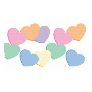 Corazón de la tarjeta del día de San Valentín Tarjetas De Visita