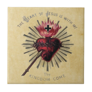 Corazón de la teja de Jesús