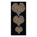 Corazón de la textura, señal del calendario diseño de tarjeta publicitaria