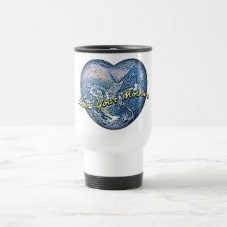 Corazón de la tierra - ame a su madre taza térmica