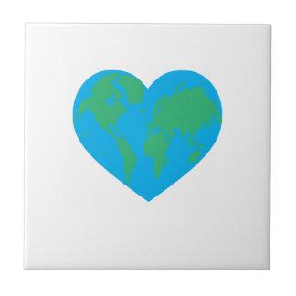 Corazón de la tierra azulejo cerámica