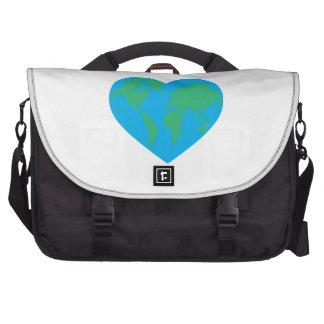 Corazón de la tierra bolsas para portátil