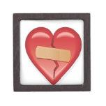Corazón de la tirita caja de joyas de calidad