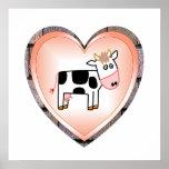 Corazón de la vaca impresiones