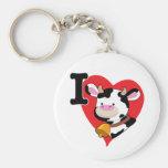 Corazón de la vaca llavero personalizado
