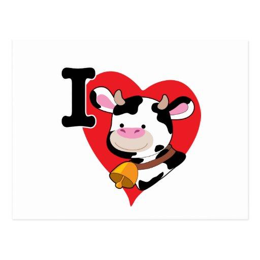Corazón de la vaca postales