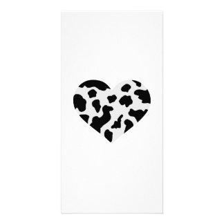 Corazón de la vaca tarjetas fotograficas personalizadas