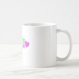 Corazón de la verde lima de la hermana de la taza clásica
