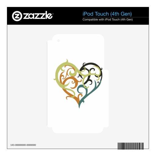 corazón de la vid tribal iPod touch 4G skin