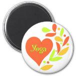 Corazón de la yoga iman para frigorífico