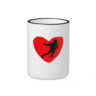 Corazón de LaCrosse Tazas De Café