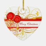 Corazón de las Felices Navidad Adorno De Reyes
