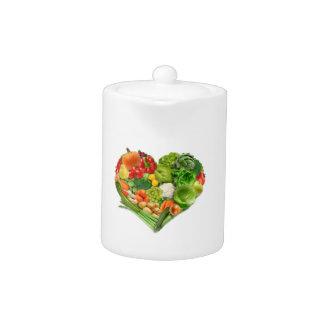 Corazón de las frutas y verduras - vegano