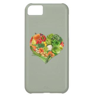Corazón de las frutas y verduras - vegano carcasa para iPhone 5C