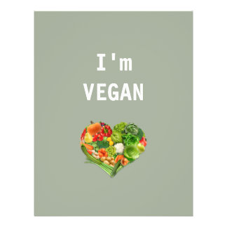 """Corazón de las frutas y verduras - vegano folleto 8.5"""" x 11"""""""