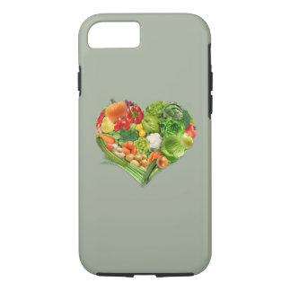 Corazón de las frutas y verduras - vegano funda iPhone 7