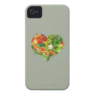 Corazón de las frutas y verduras - vegano funda para iPhone 4 de Case-Mate