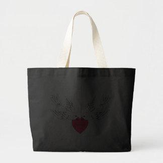 Corazón de las palomas del amor de la paz bolsa